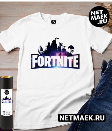 Футболка с надписью Fortnite NEW