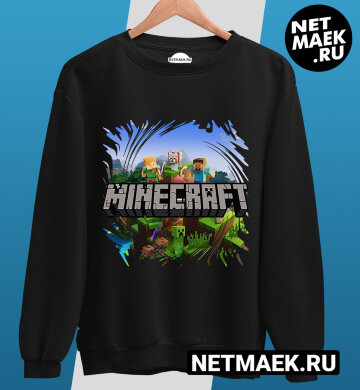 Свитшот minecraft TNT Dark